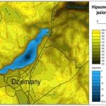Hipsometria okolic jeziora Rzuno i batymetria jeziora Rzuno